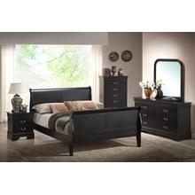 Louis Philippe Black Queen 4PC Bedroom Set