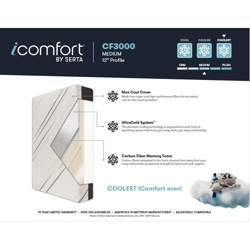 iComfort - CF3000 - Medium - Twin XL