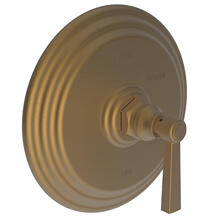 Satin Bronze - PVD Balanced Pressure Shower Trim Plate with Handle. Less showerhead, arm and flange.