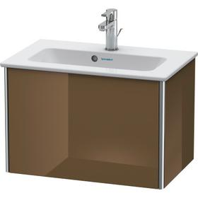 Vanity Unit Wall-mounted Compact, Olive Brown High Gloss (lacquer)