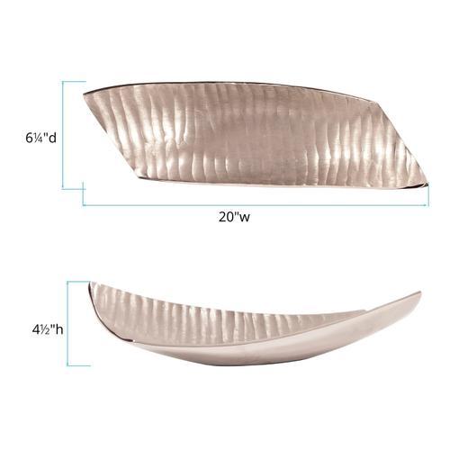 Howard Elliott - Chisel Texture Nickel Aluminum Tray