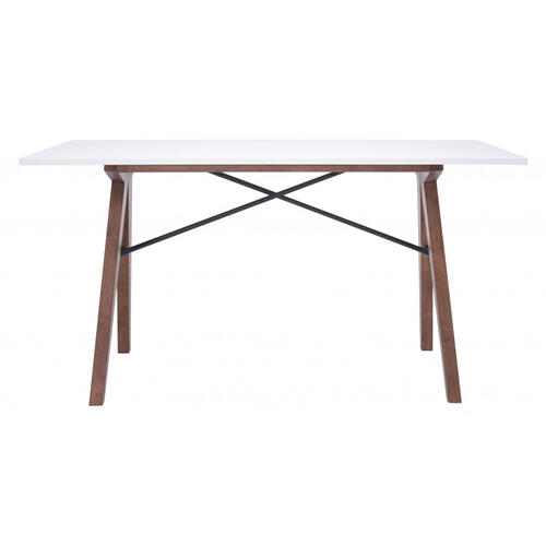 Zuo Modern - Saints Desk Walnut & White