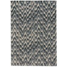 Mineral-Flamestitch Blue Slate Machine Woven Rugs