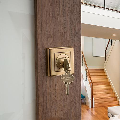 Satin Brass and Brown Hollywood Hills Deadbolt