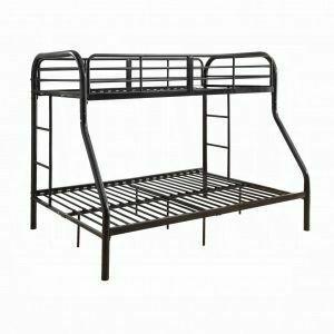 ACME Tritan Twin/Full Bunk Bed - 02043BK - Black