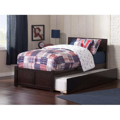Atlantic Furniture - Orlando Twin Flat Panel Foot Board with Urban Trundle Espresso