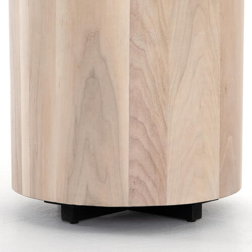 Ashen Walnut Finish Hudson Round End Table