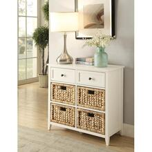 WHITE DRAWER CABINET