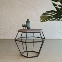 View Product - Modrest Tartan Modern Concrete & Metal End Table