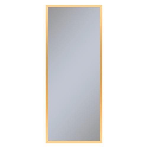 """Profiles 19-1/4"""" X 48"""" X 4"""" Framed Cabinet In Matte Gold With Electrical Outlet, Usb Charging Ports, Magnetic Storage Strip and Left Hinge"""