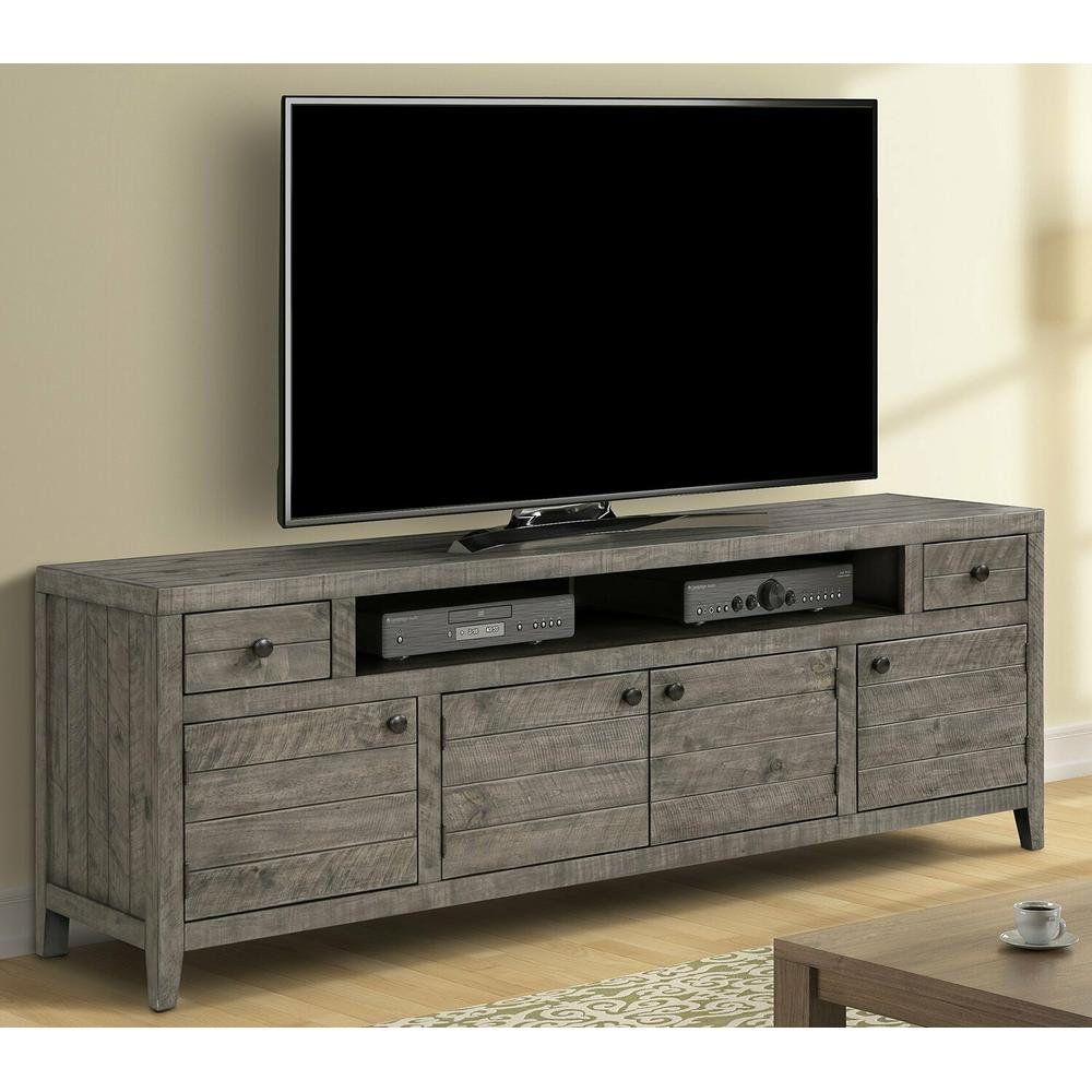 See Details - TEMPE - GREY STONE 84 in. TV Console