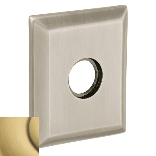 Baldwin - Satin Brass and Brown R033 Square Rose
