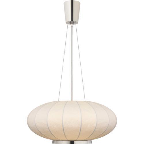 Visual Comfort - Barbara Barry Moon 1 Light 26 inch Polished Nickel Hanging Shade Ceiling Light, Medium