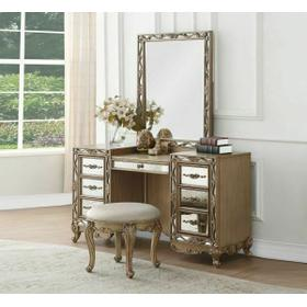 ACME Orianne Vanity Desk - 23797 - Antique Gold