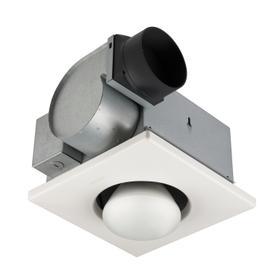 Broan® 70 CFM One-Bulb Heater/Ventilation Fan, 250W BR40 Infrared Bulb, 4.0 Sones
