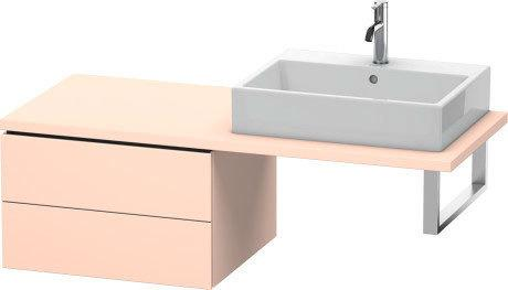 Low Cabinet For Console, Apricot Pearl Satin Matte (lacquer)