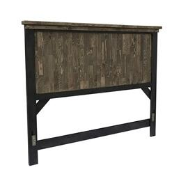 King Panel Headboard - Honey \u0026 Black Finish