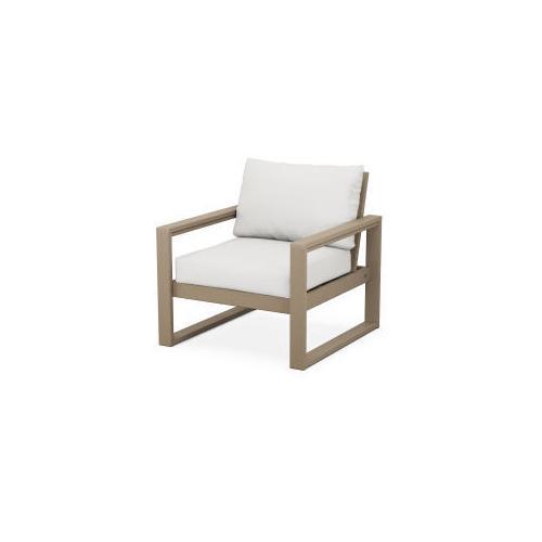 Polywood Furnishings - EDGE Club Chair in Vintage Sahara / Natural Linen