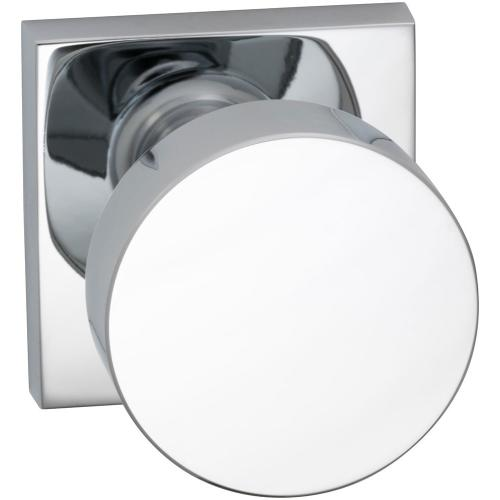 Product Image - Interior Modern Knob Latchset with Square Rose in (US26 Polished Chrome Plated)