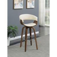 Contemporary Walnut and Cream Bar Stool Product Image