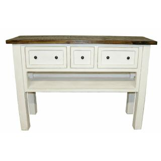 See Details - W White 3 Dwr Console