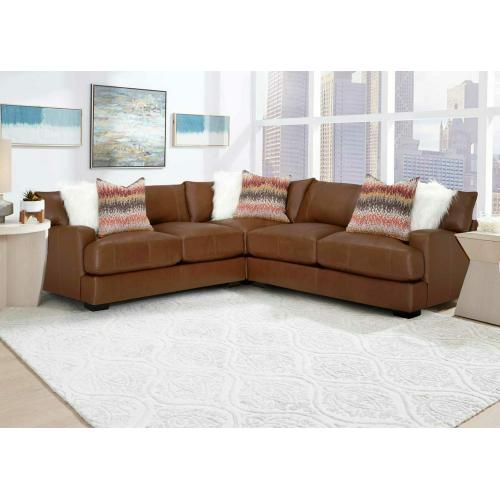 909 Gia Leather Sectional