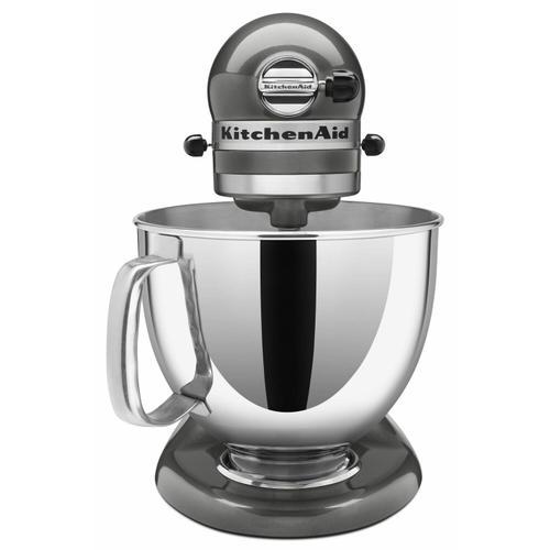 KitchenAid - Value Bundle Artisan® Series 5 Quart Tilt-Head Stand Mixer with Flex Edge Beater - Liquid Graphite