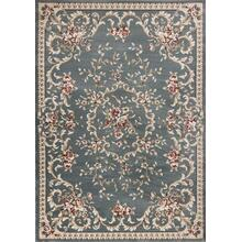 "Avalon 5602 Slate Blue Aubusson 2' X 7'7"" Runner"