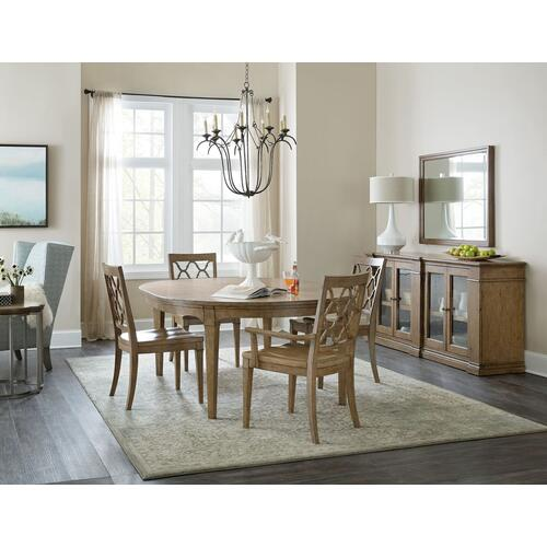 Dining Room Montebello 56in Round Dining Table w/ 1-18in leaf