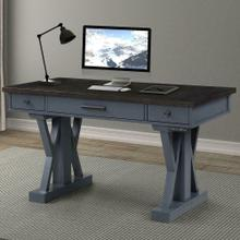 View Product - AMERICANA MODERN - DENIM 56 in. Power Lift Desk (from 23 in. to 48.5 in.) (AME#256T and LIFT#200BLK)