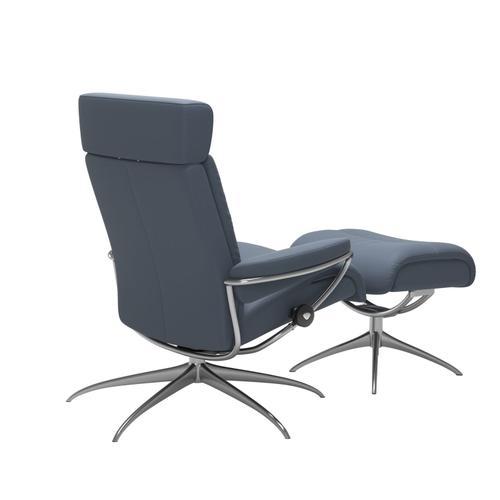 Stressless By Ekornes - Stressless® Tokyo Star Adjustable headrest Chair with Ottoman