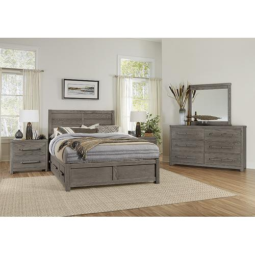 Queen - Plank Bed with 2 Side Storage
