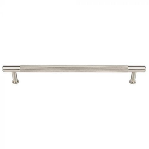 Vesta Fine Hardware - Beliza Knurled Appliance Pull 12 Inch (c-c) Brushed Satin Nickel Brushed Satin Nickel