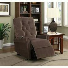 ACME Zody Recliner w/Power Lift - 59241 - Chocolate Velvet