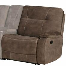 COOPER - SHADOW BROWN Manual Left Arm Facing Recliner