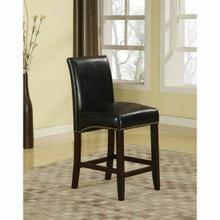 "ACME Jakki Counter Height Chair (Set-2) - 96169 - Black PU - 24"" Seat Height"