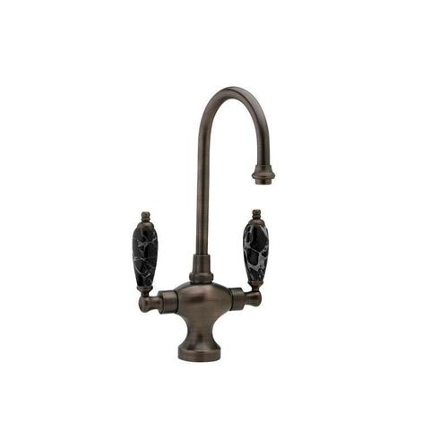 Kitchen & Bar Single Hole Bar Faucet K8158C - Polished Nickel with Polished Gold
