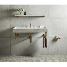 "Elemental Accessory Shelf Aged Brass / Honed Carrara Marble / 36"""