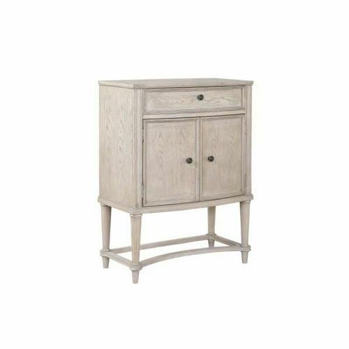 ACME Wynsor Wine Cabinet - 67536 - Traditional - Wood (Poplar), Wood Veneer (Oak), MDF - Antique Champagne