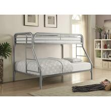 View Product - Morgan Twin-over-full Silver Bunk Bed