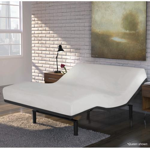 Gallery - Falcon 2.0+ Low-Profile Adjustable Bed Base with Under-Bed Lighting, Charcoal Gray, Queen