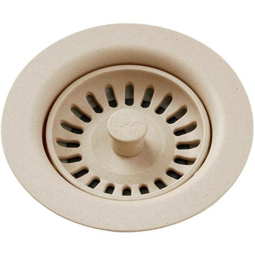 Elkay - Elkay Polymer Drain Fitting with Removable Basket Strainer and Rubber Stopper Sand