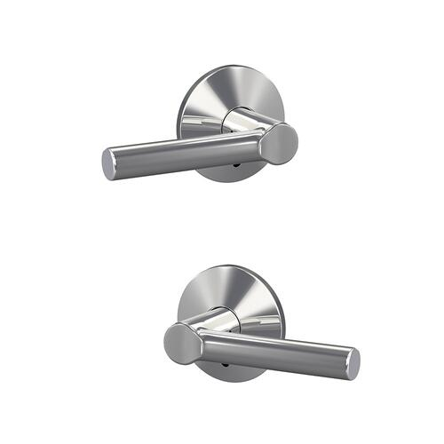Custom Broadway Non-Turning Lever with Kinsler Trim - Bright Chrome