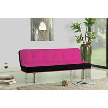 ACME Hailey Adjustable Sofa - 57137 - Magenta & Black Flannel