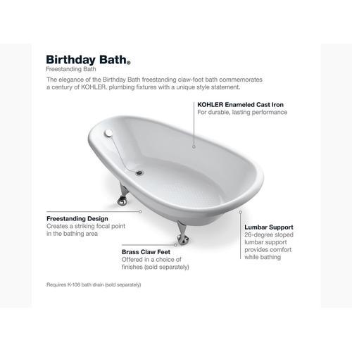 "White 72"" X 37-1/2"" Freestanding Bath"
