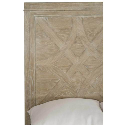 Queen Rustic Patina Panel Bed in Sand (387)
