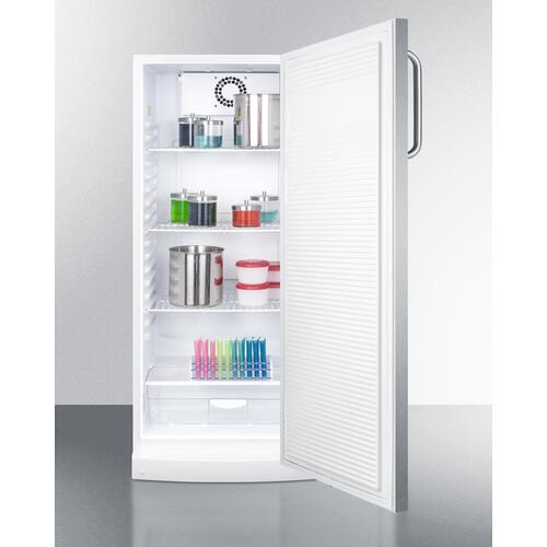 "10.1 CU.FT. General Purpose All-refrigerator In Slim 24"" Width, With Automatic Defrost, Internal Fan, Stainless Steel Door, and Towel Bar Handle"