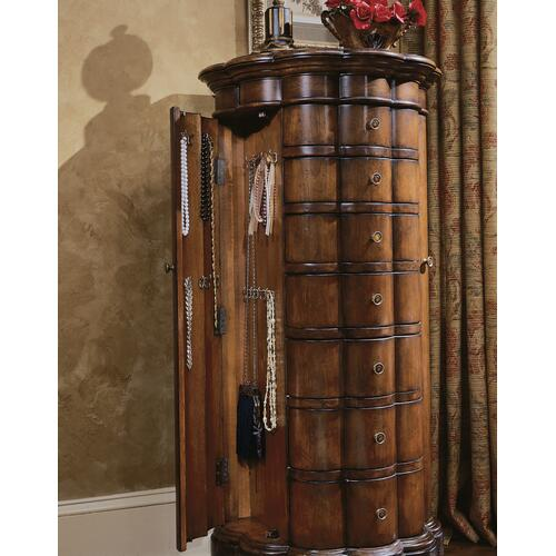 Hooker Furniture - Shaped Jewelry Armoire-Cherry