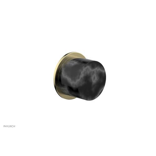 BASIC II Cabinet Knob - Marble 230-92 - Polished Brass Uncoated