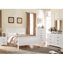 Louis Philippe White 4pc Twin Bedroom Set